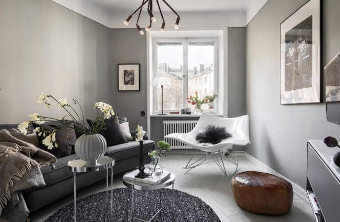 Grey Scandinavian Apartment