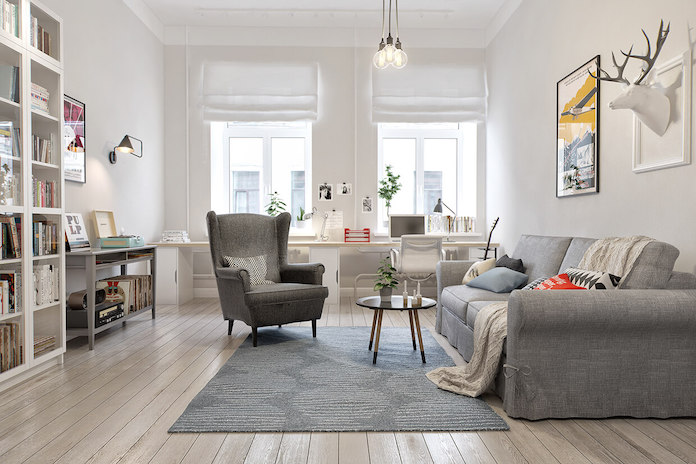 Light Scandinavian living room