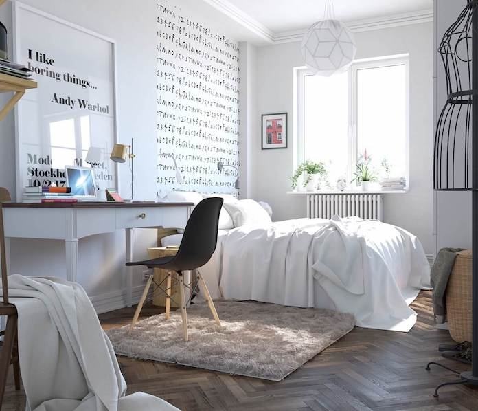 modern scandinavian bedroom