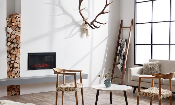 scandinavian living room statement fire