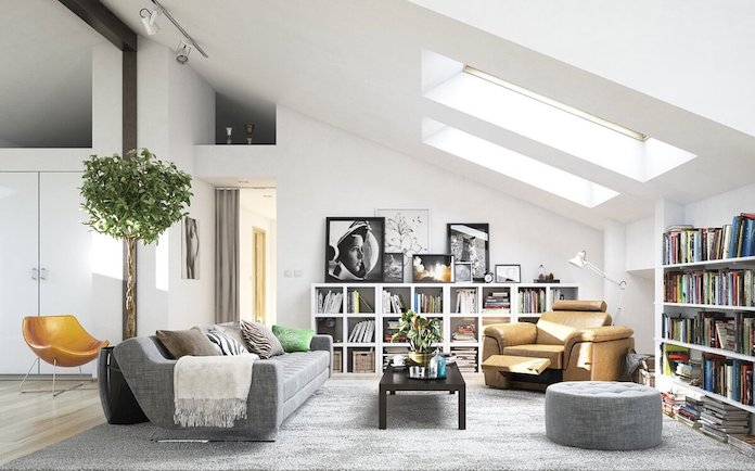stylish scandinavian livingroom