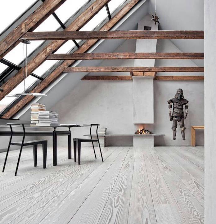 white washed floors
