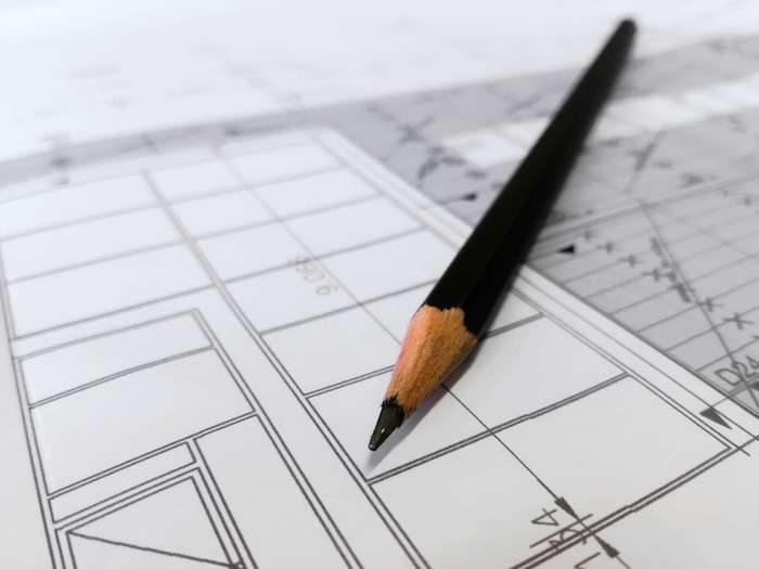 чертежи и планировка интерьера