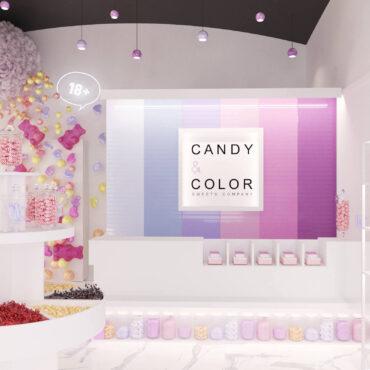 «Смачний» дизайн інтер'єру магазину солодощів у Львові