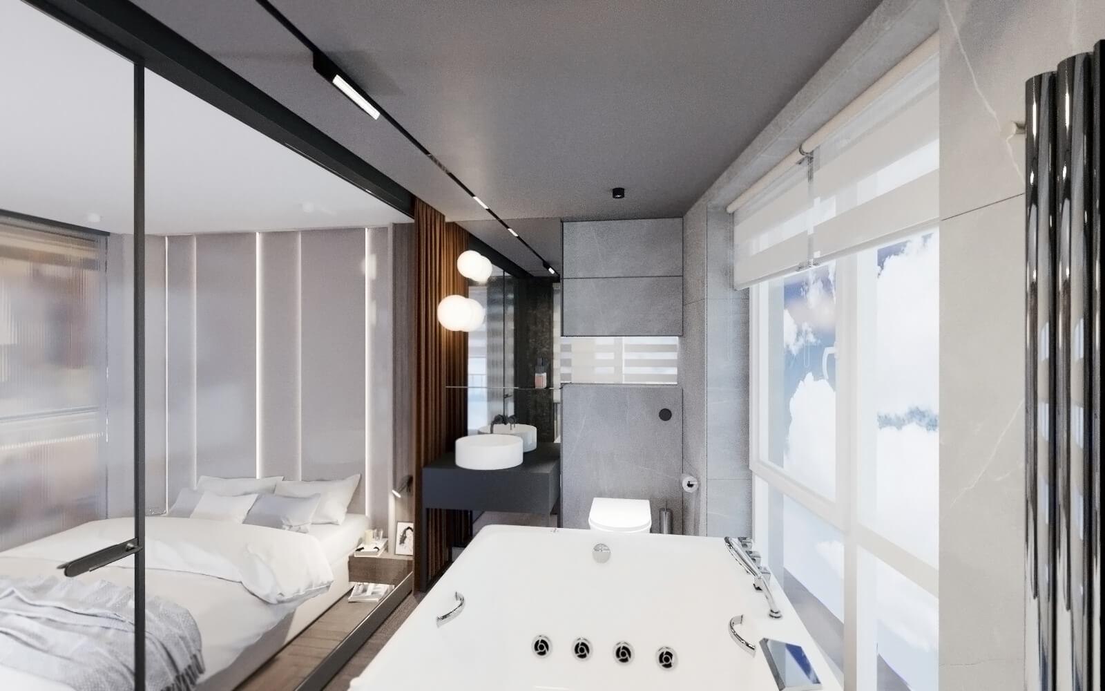 объединение туалета и ванной